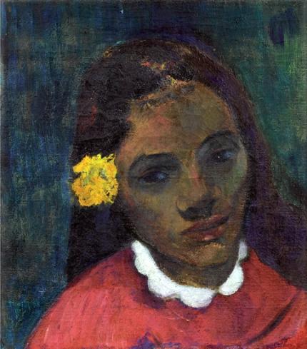 TêTe De Tahitienne, Ou La Fleur Qui ÉCoute