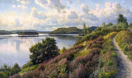 A view of Borresö towards Karoline Amalies Høj, Denmark 1912