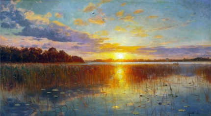 Sunset over a Danish Fiord 1901