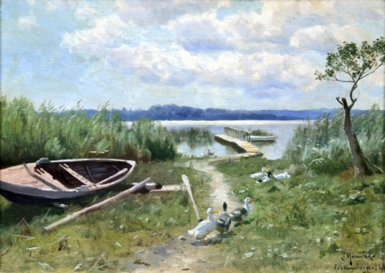 By a Lake in Fredensborg, 1926