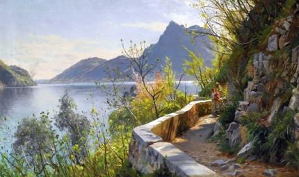 Lugano søen (Lago di Lugano), 1910
