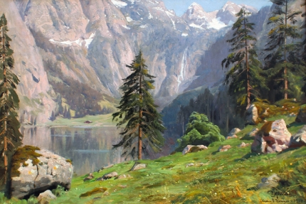 Summer Day at Obersee Bei Konigsee 1914