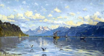 Lac Leman near Clarens Montreux, 1887