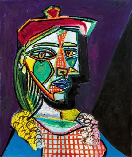Femme Au Béret et à la Robe Quadrillée (Marie-Thérèse Walter)