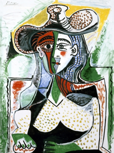 Woman with a Large Hat