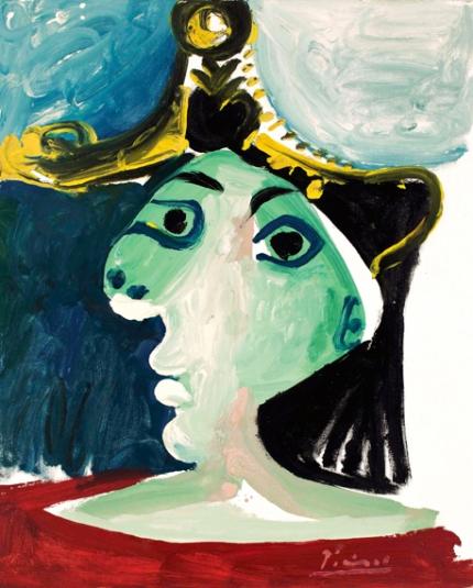 Tête De Femme Au Chapeau