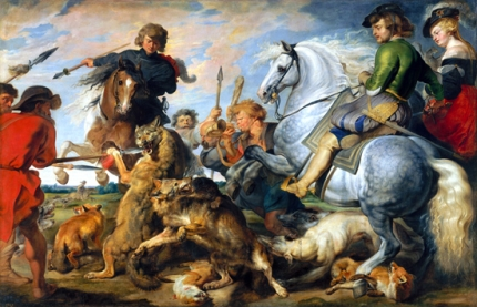 Wolf and Fox Hunt 1616
