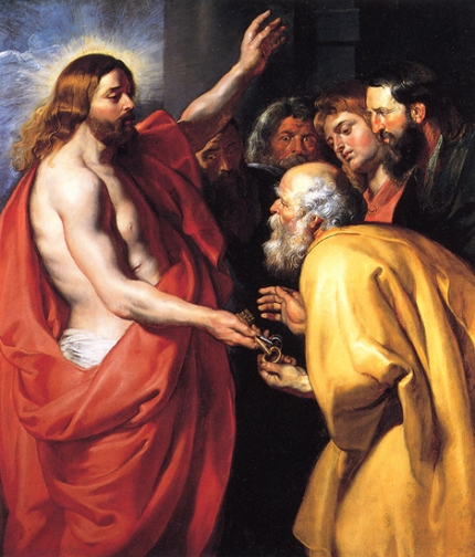 Christ Giving the Keys of Heaven to St. Peter
