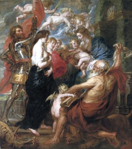 Madonna and Child Among Saints 1640