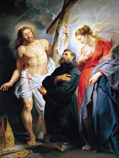 Saint Augustine Between Christ and the Virgin 1615