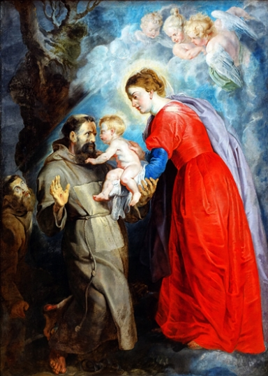 Saint Francis Receiving the Baby Jesus from the Virgin 1617
