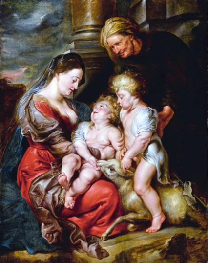 The Virgin and Christ Child, with Saints Elizabeth and John the Baptist