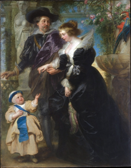 Rubens, his wife Helena Fourment, and their son Frans 1635