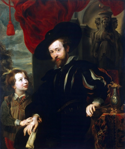 Portrait of Rubens with his son Albert