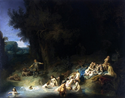Diana Bathing with her Nymphs with Actaeon and Callisto 1635