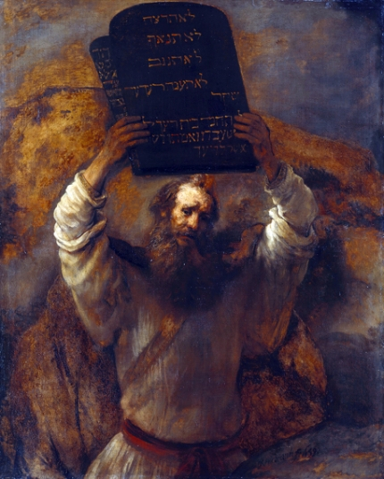 Moses with the Ten Commandments 1659