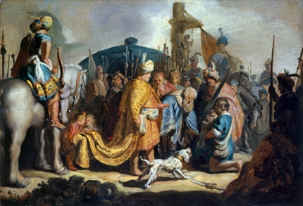 David with the Head of Goliath before Saul 1627