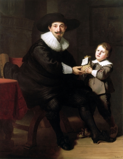 Jean Pellicorne with his son Casper 1633