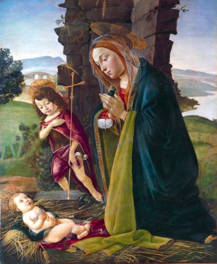 Adoration of Christ with Saint John