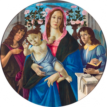Madonna with Child, Saint John the Baptist and an Angel 1470