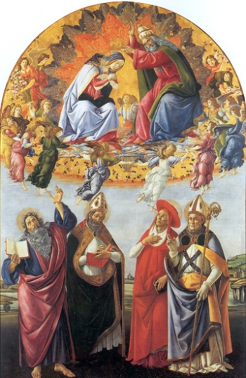 The Coronation Of Mary, The Altar Of San Marco 1492