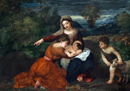 The Madonna and Child with a Female Saint and the Infant Saint John the Baptist