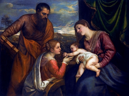 The Madonna And Child With Saints Luke And Catherine Of Alexandria