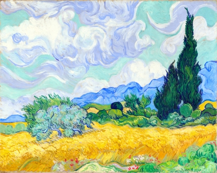 A Wheatfield With Cypress 1889