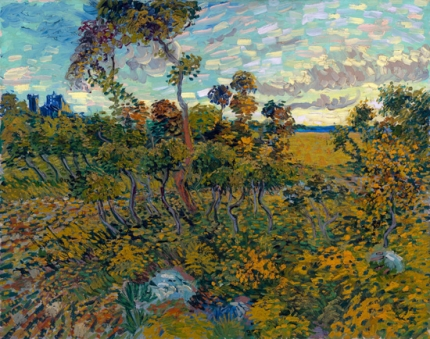 Sunset At Montmajour 1888