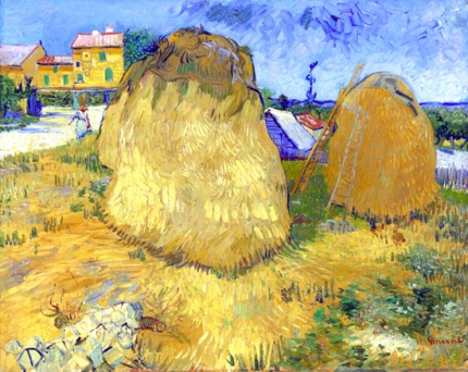 Wheat Stacks In Provence