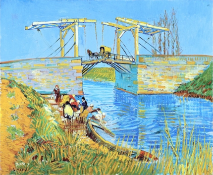 アルルの跳ね橋(アルルのラングロワ橋と洗濯する女性たち)