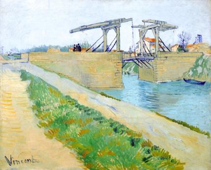 アルルの跳ね橋(アルルのラングロワ橋と運河沿いの道)