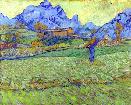 山々の中の草地:サン=ポールの農家