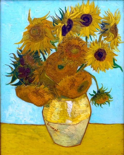 Vase With Twelve Sunflowers 1888