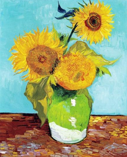 Three Sunflowers 1888