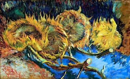 Four Sunflowers Gone To Seed 1887