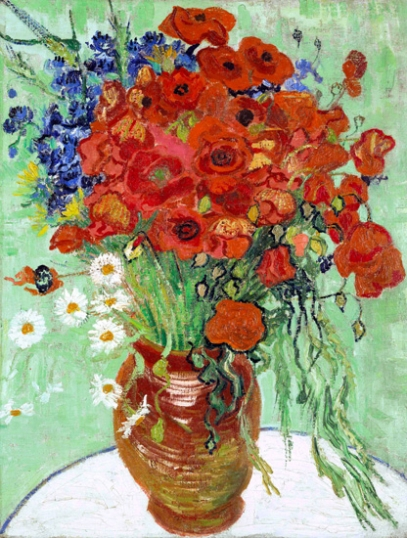 Still Life, Vase With Daisies 1890