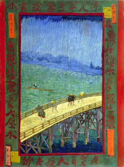 Bridge In The Rain (After Hiroshige) 1887