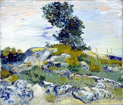 Rocks With Oak Tree 1888