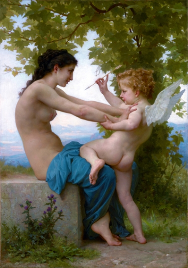 A Girl Defending Herself against Eros 1880