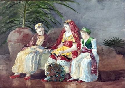 Children Under a Palm Tree 1885