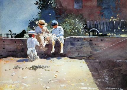 Boys and Kitten 1873