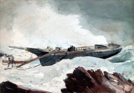 The wrecked Schooner