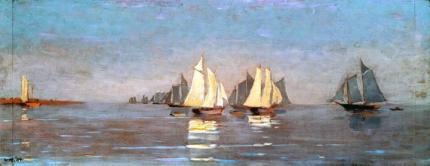 Mackerel Fleet at Dawn, 1884