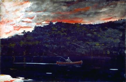 Sunrise, Fishing in the Adirondacks, 1892