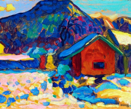 Winterstudie Mit Berg