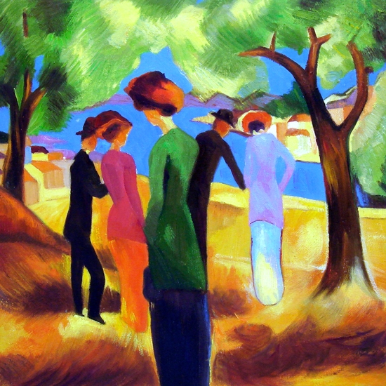 The Lady In The Green Jacket by August Macke