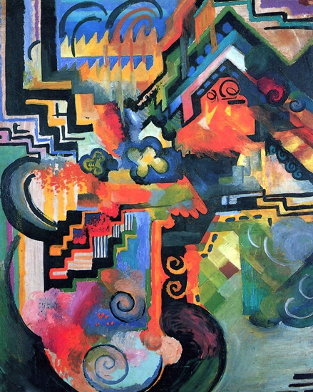 Color Composition by August Macke