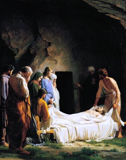 The Burial by Carl Heinrich Bloch