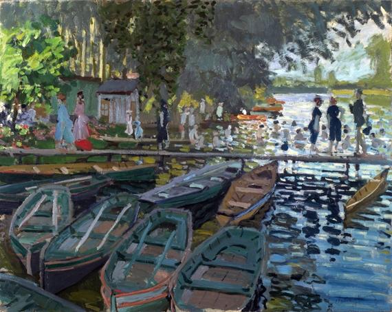 Bathers at La Grenouillère by Claude Monet